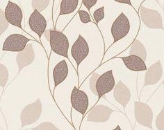 AS Creation Mila behang Stencil, Quilts, Blanket, Abstract, Wallpaper, Artwork, Decor, Flowers, Grey Wallpaper