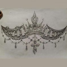 Crown Tattoos For Women, Tattoos For Women On Thigh, Chest Tattoos For Women, Neue Tattoos, Body Art Tattoos, Small Tattoos, Cool Tattoos, Arabic Tattoos, Heart Tattoos