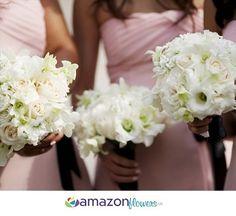 Bridesmaids Bouquets, Bridal Bouquets, Wedding Flowers Online, Wedding Flower Arrangements, Wedding Bouquets, DIY Flowers | Amazonflowers.us