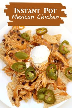 Easy recipe for mexican salsa chicken in the Instant Pot #instantpot