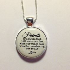 FRIEND QUOTE CHARM  Friends are Angels by AnnmarieJewelryTree