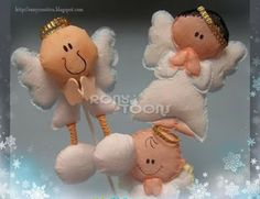 angelitos de crepe