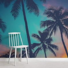 New palm tree wallpaper bedroom wall murals Ideas Palm Tree Wallpaper Mural, Beach Scene Wallpaper, Strand Wallpaper, Tree Wallpaper Nursery, World Map Wallpaper, Mountain Wallpaper, Tropical Wallpaper, Forest Wallpaper, Wall Wallpaper
