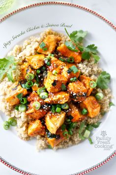 Spicy Sriracha Chicken and Quinoa Bowl