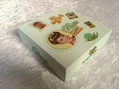 """Schöne Servietten-Box """"Pasta in my kitchen"""" von GESCHENKE MIT STIL von GESCHENKE MIT STIL bei DaWanda. Mehr schöne Geschenke findest Du hier: www.facebook.com/DanielasGeschenkeMitStil"""