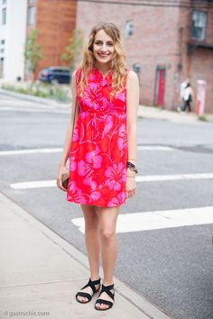 Street Chic: Thrift Store Floral Dress, Mister Sunday#FlowerShop