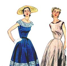 Vintage 1950s Summer Dress Pattern by RebeccasVintageSalon on Etsy, $8.00