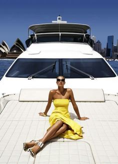 .Glamazon Cruising Sydney Harbour In All Her Couture Clad Glory - Aussie Summer Is Beautiful One Day, Perfect The Next -ShazB
