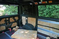 Adding Batt Insulation to all Void Spaces of the Vehicle Body