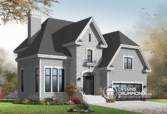 Duplex de style europ en no 3031 de dessins drummond for Plan maison 6 chambres