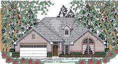 Traditional Elevation of Plan 75051