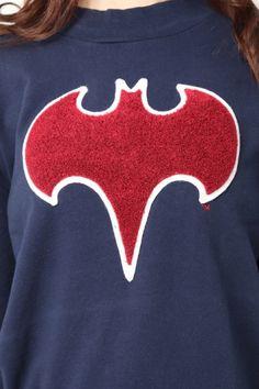 MURUA(ムルーア)【CASUAL】BATMANロゴスウェット(バットマン)sweatshirt