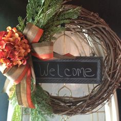 Fall Wreath Autumn Wreath Thanksgiving by angiespictureframes, $45.00 This Is a perfect gift for a FALL WEDDING!!!