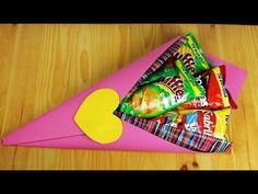 Valentine Gift Baskets, Valentines Diy, Valentine Day Gifts, Husband Birthday, Mom Birthday Gift, Christmas Birthday, Art N Craft, Craft Box, Candy Bags Birthday