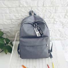 Tips: *Please double check above size and Students canvas backpack Stylish School Bags, Cute School Bags, School Bags For Girls, Big Backpacks, Trendy Backpacks, School Backpacks, Canvas Backpacks, Mini Backpack, Backpack Bags