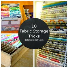 Dollar Store Crafts » Blog Archive » 10 Storage Ideas for Your Fabric Stash