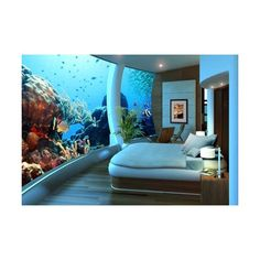 Maybe some of you who have the budget a little will use a small aquarium and themed bedroom wall decoration ocean underwater scenery. This becomes different if you are a very rich, easy to create a bedroom that is extraordinary.