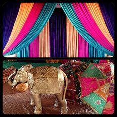 Ladies Sangeet and Mayian decor for pre wedding celebrations in brilliant colour combination. For inquiries reach us at 778-839-9476 or email: moonlightweddingdecor@hotmail.com  #jaswedstina2015 #mehndi #mayian #indianweddingdecor #indiantraditional #traditional #wedding #weddingdecor #weddingceremony #sikhwedding #hinduwedding #muslimwedding #homedecor #sequence #flowergarlands #indianbride #indiangroom #indiantraditional #backdrop #beautiful #exclusive #elegantdecor #vancouvereventstylist… Sikh Wedding, Wedding Ceremony, Ladies Sangeet, Indian Groom, Indian Wedding Decorations, Flower Garlands, Traditional Wedding, Celebrity Weddings, Mehndi