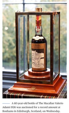 This Macallan Scotch whisky bottle was sold October , for million dollars. New world record for a bottle of whisky. Wine And Liquor, Wine And Beer, Wine Drinks, Alcoholic Drinks, Cocktails, Cigars And Whiskey, Scotch Whiskey, Whiskey Bottle, Rare Whiskey