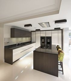 Two tone Kitchen Cabinets Trend. Luxury Two tone Kitchen Cabinets Trend. 8 Trendy Two toned Kitchens Two Tone Kitchen Cabinets, Wood Kitchen Island, Upper Cabinets, Kitchen Cupboard, Grey Cabinets, Kitchen Islands, Kitchen Backsplash, Dark Wood Kitchens, Black Kitchens