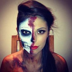 Halloween makeup Two faced