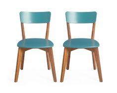 Conjunto Cadeira Dinda - Laca Azul - 2 peças