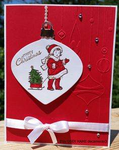 STAMPIN' UP Greeting Card Kids, Handmade CHRISTMAS Card kit, Set of 4, by decamerax3 on Etsy