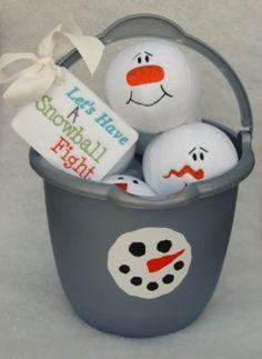 Fun Snow Ball Game!!  @Embroidery Garden