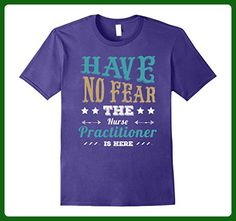 Mens Have no Fear the Nurse Practitioner is Here T-Shirt Medium Purple - Careers professions shirts (*Amazon Partner-Link)