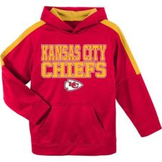 NFL Kansas City Chiefs Youth Hooded Fleece Top, Boy's, Size: XL, Red