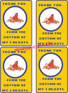 Finding-Dory-Thank-You-Notes from Free Finding Dory Party Printables via Mandy's Party Printables