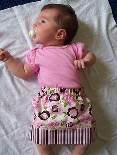 reversible skirt for little girls