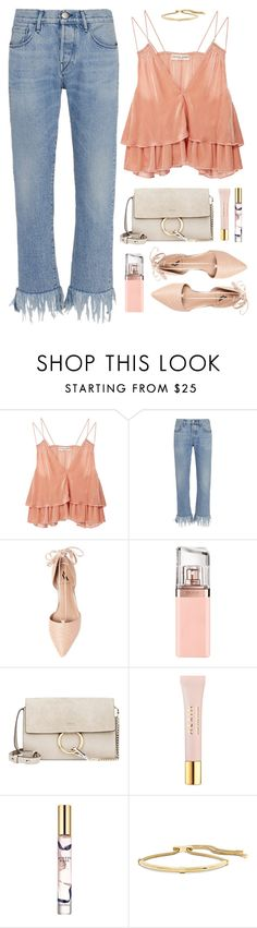 """""""Untitled #1425"""" by timeak ❤ liked on Polyvore featuring Apiece Apart, 3x1, Ava & Aiden, HUGO, Chloé, AERIN, Estée Lauder and Lanvin"""