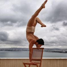 #Yoga #handstand #chairstand
