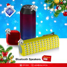 Get the perfect Bluetooth Speaker gift starting as low as $56!  #FultecSystems #TechtheHalls #ChristmasSale