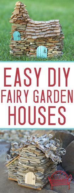 how to make ADORABLE and CHEAP fairy garden houses that LAST!