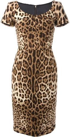 Shop for Dolce & Gabbana leopard print dress at ShopStyle. Animal Print Bodycon Dresses, Brown Evening Dresses, Fancy Dress Outfits, Leopard Dress, Look, Couture, Animal Prints, Clothes, Number 2