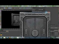 model sci-fi door in 30 sec - Challenge Accepted!!!!!!!!!! - YouTube