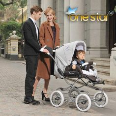 Luxury leather buggy (like royal family have). Brand is One star. Bassinet converts to child seat. Padded internal with mattress like bottom and sides in seat. 5 point harness with push button release. Large wheels. Seat can be forward or rear facing. $898 from Aliexpress