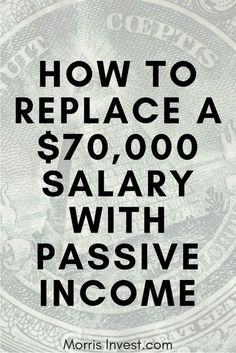 What if you could replace your salary from your job with passive income through real estate investing? You might think this sounds like a tall ord. Earn Money From Home, Earn Money Online, Way To Make Money, Passive Income Streams, Creating Passive Income, Creating Wealth, Investing Money, Real Estate Investing, Earning Money