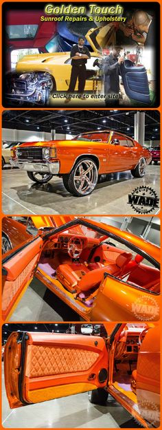 HUGGGGEEEE S/o to my Guy Dorsey ! Owner and Operator of Young Blood Kreations ! Spraying some WET Candy down a little ways from the City. Just got Done bulding this Flawless Chevelle. Candy Orange with custom interior done by Golden Touch in Decatur, GA. If you Need any paint needs hit my Guy up Dorsey - 706.817.6131 fesler door panels  http://www.whipsbywade.com/2013_06_01_archive.html 1970 Chevrolet Chevelle @74snug1981