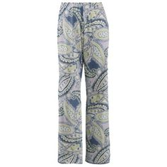 Womens Paisley Lace Trim Sleep Pants $41.95