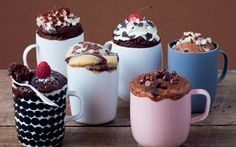 The ultimate collection of lip-smacking cakes that you can make in a mug, in   the microwave, in five minutes flat