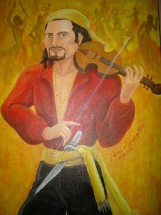 Eu vi... a mais linda natureza, exalando da floresta, um perfume de jasmim.  Não sei, onde é seu acampamento, só se escuta seu lamento, sua tristeza não tem fim.  Ele chega dançando de lado, todo o povo vai cantando, a festa começa assim.  Hoje teu violino está tocando, deu chegada, vem saudando, o cigano Wladimir!!!!  Eu vi...♪♫  Salve o Cigano Wladimir, grande mestre e protetor das estradas de minha vida!!!  Salve todo o povo Cigano!!! Salve Santa Sara Kali!!!  Optchá!!!