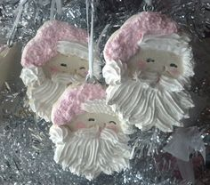 Set of 3 Fake Santa Cookie Christmas by FakeCupcakeCreations
