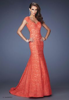 2014 Formal Dresses Mermaid Long Black   Red Lace Open Back picture 1 31a30725f6d9