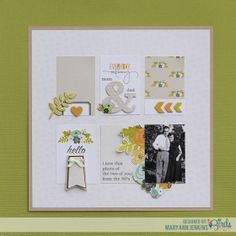 Mom And Dad Scrapbook Page by @Mary Ann Jenkins  for 3 Birds Studio #gracefulseason #scrapbookpage  #3birdsdesign