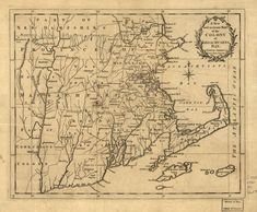 A new and accurate map of the colony of Massachusets [i.e. Massachusetts] Bay, in North America, from a late survey. | Library of Congress