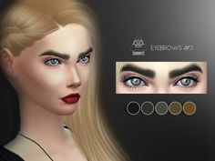 The Sims Resource: Eyebrows 3 by serenity-cc • Sims 4 Downloads
