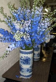 Delphinium Color Azul White Wedding Flowers, Flower Bouquet Wedding, Love Flowers, White Azalea, Azul Indigo, Blue Delphinium, Wedding Decorations, Wedding Ideas, Wedding Inspiration